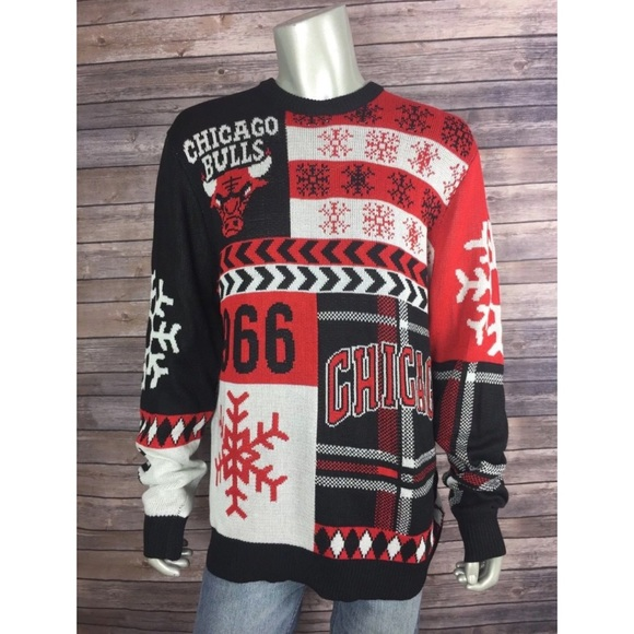 : adidas Chicago Bulls Xmas Sweatshirt Jacket NBA